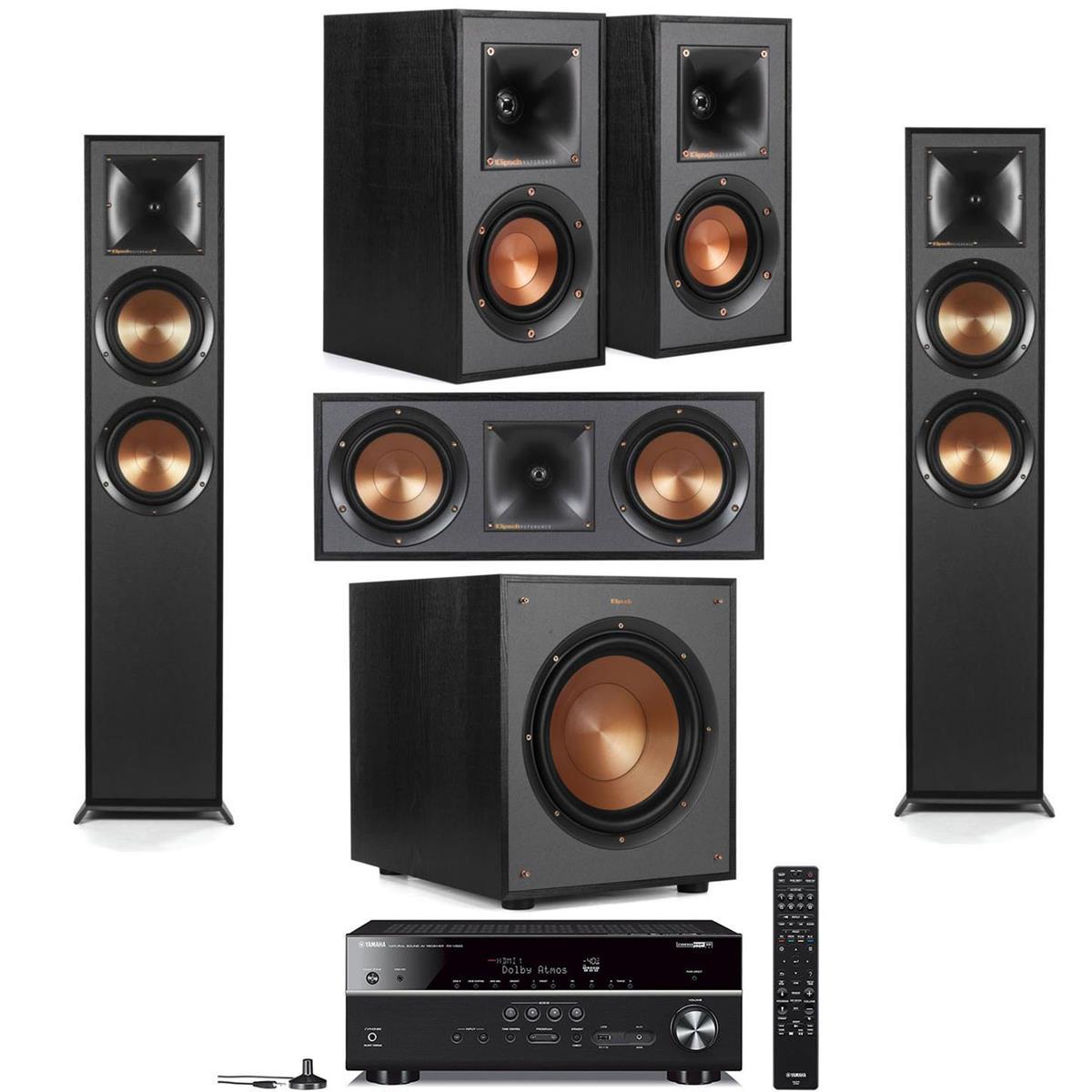 Klipsch: 2x R-625FA + 2x R-41M + R-52C + R-100SW Sub + Yamaha RX-V685 Receiver $1399 + Free Shipping
