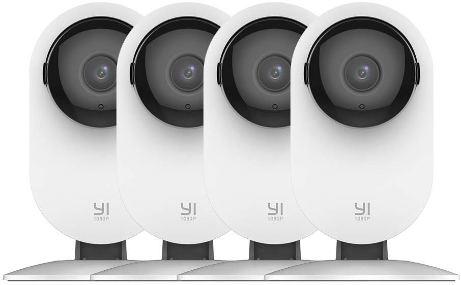 4-Pack YI 1080p WiFi Home Camera w/ 24/7 Emergency Response, Night Vision, Baby Monitor $70 + free s/h