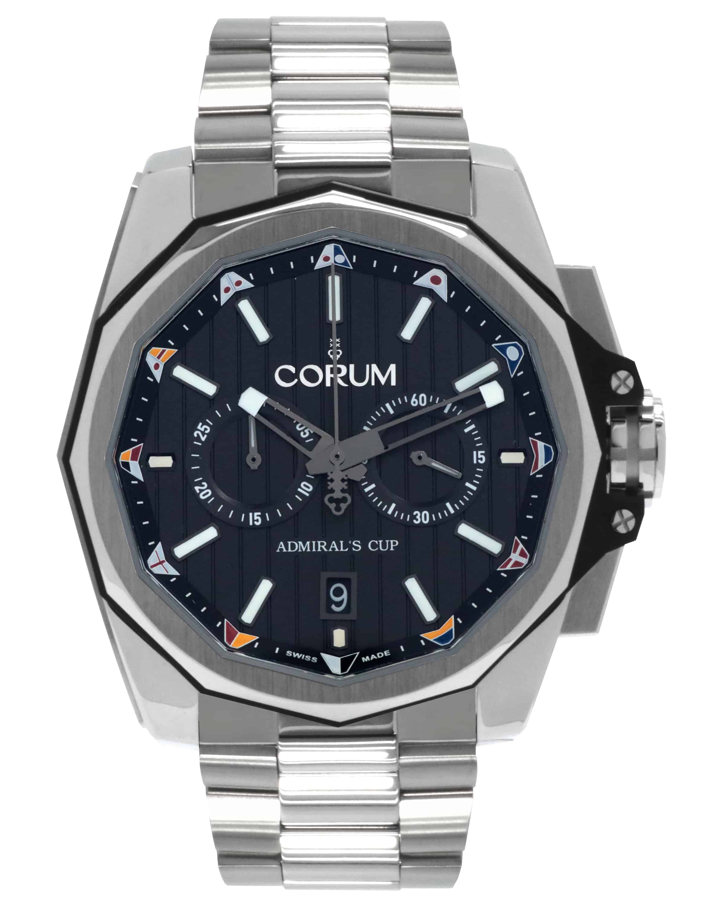 Corum Admiral's Cup AC-one 45 Automatic Chronograph Watch w/ Ti Bracelet $2799 + free s/h