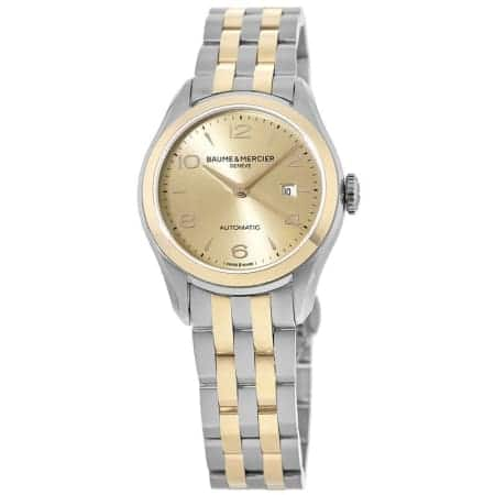 Baume & Mercier Clifton 18kt Rose Gold & Steel Ladies Automatic Watch $849 + free s/h