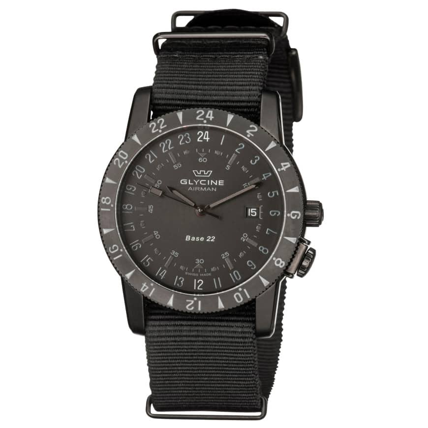Glycine Airman Base 22 Purist Automatic GMT Watch $499 + free s/h