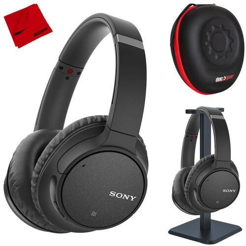 Sony WH-CH700N Wireless Noise Canceling Headphones (Black) with Case and Stand $88 + free s/h