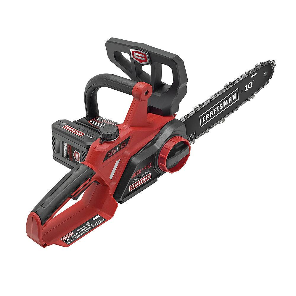 "Craftsman 74931 24V Max 10"" Electric Cordless Chainsaw $70 + free s/h or 2ct for $140 w/ $100 back in Sears (4 installments)"