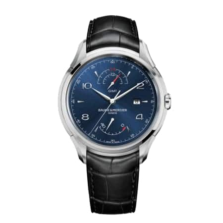 Baume & Mercier Clifton Automatic Dual Time Blue Dial Automatic Watch $1520 + free s/h