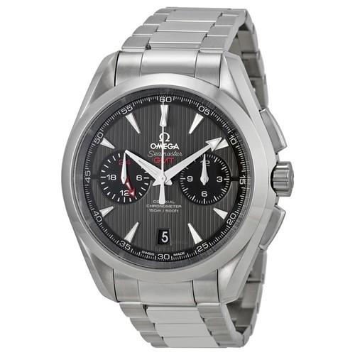 OMEGA Seamaster Aqua Terra Automatic GMT Chronograph Watch on Bracelet $4475 + free s/h