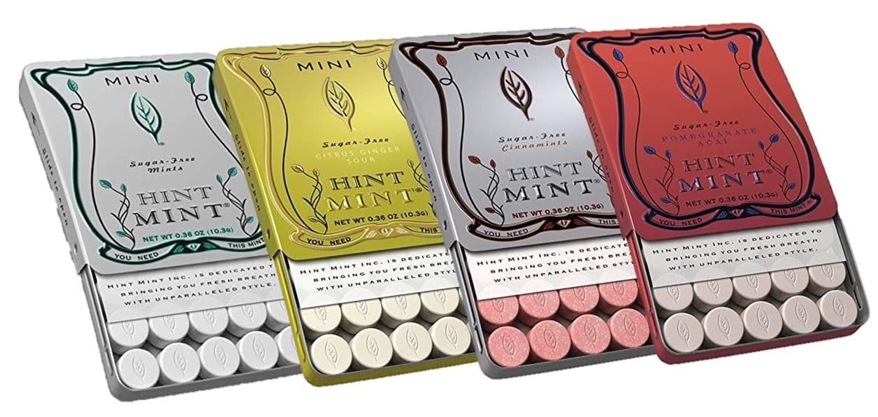 24-pack of Sugar Free (Sorbitol) Hint Mint Mints, Pomegranate, Cinnamon, Ginger $25 + free s/h