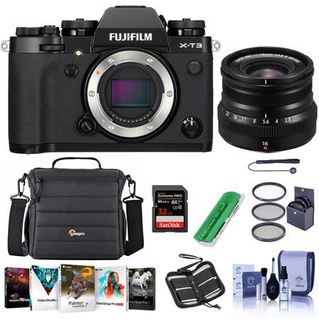 Fujifilm X-T3 Mirrorless Camera + 16mm f/2.8 R WR Lens + Acc Kit $1529 + free s/h