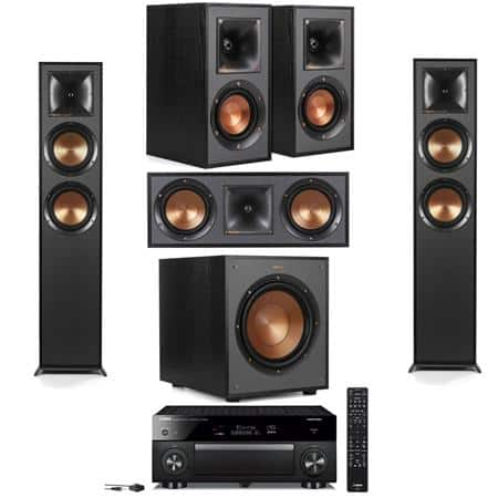Klipsch: 2x R-625FA + R-41M + R-52C + R-100SW + Yamaha RX-A780 $1399 or w/ RX-A1080 $1599 or w/ RX-A2080 $1999 + free s/h