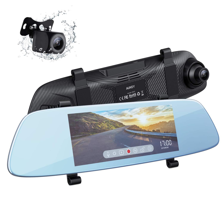 """Aukey DRA2 1080p 6.8"""" Mirror Dash Camera w/ Touchscreen $50.40 + free s/h"""