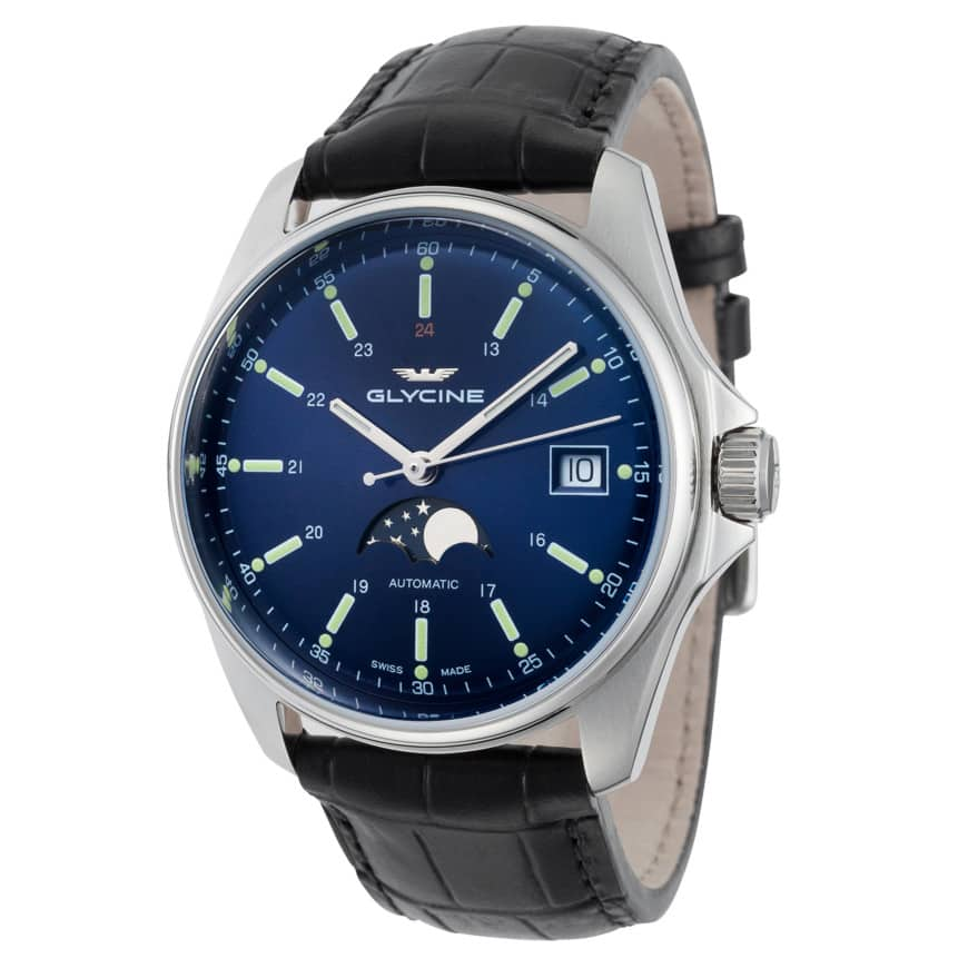 Glycine Combat Automatic Watch w/ Moonphase $319 + free s/h