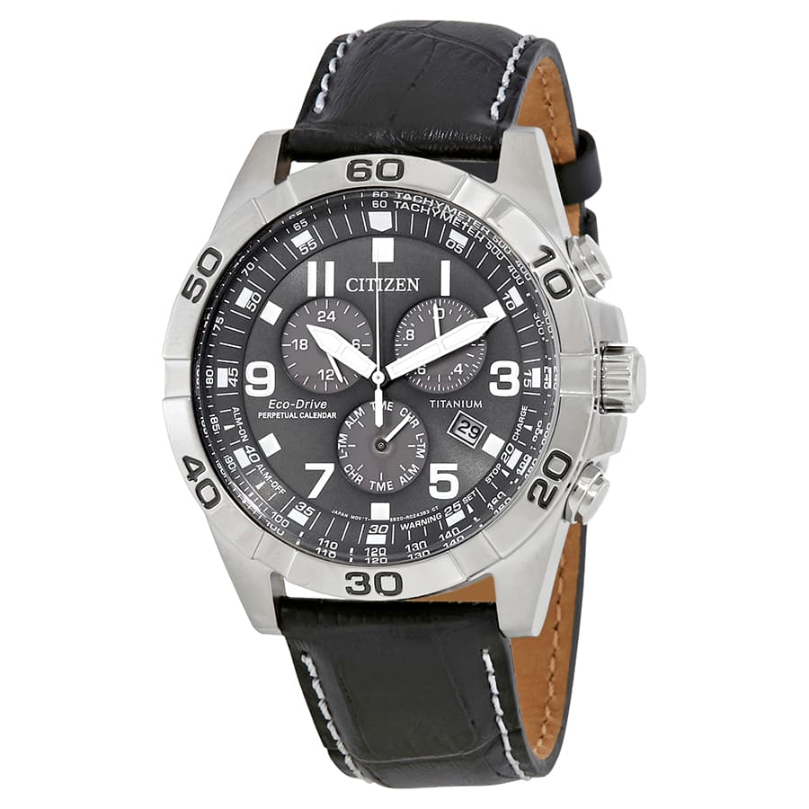 Citizen Brycen Eco-drive Perpetual Alarm Chronograph Watch $140 + free s/h