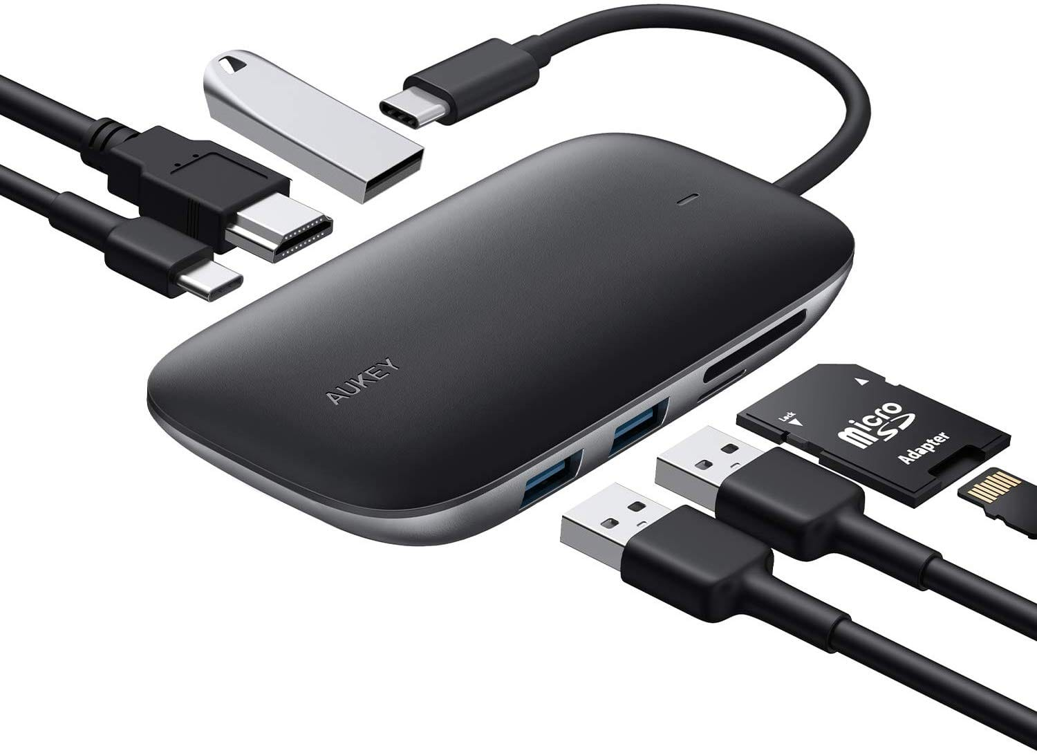 Aukey 7-in-1 USB Type-C Hub w/ 100W Power Delivery