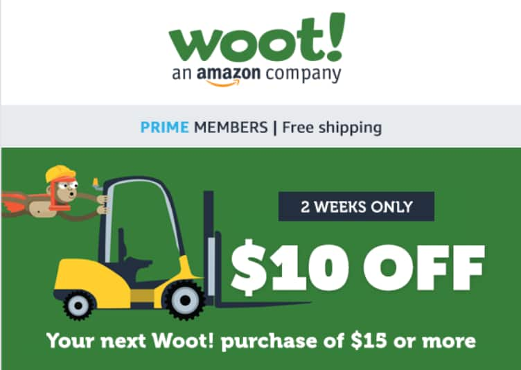 **YMMV*** Woot Coupon $10 off $15+ ***YMMV***