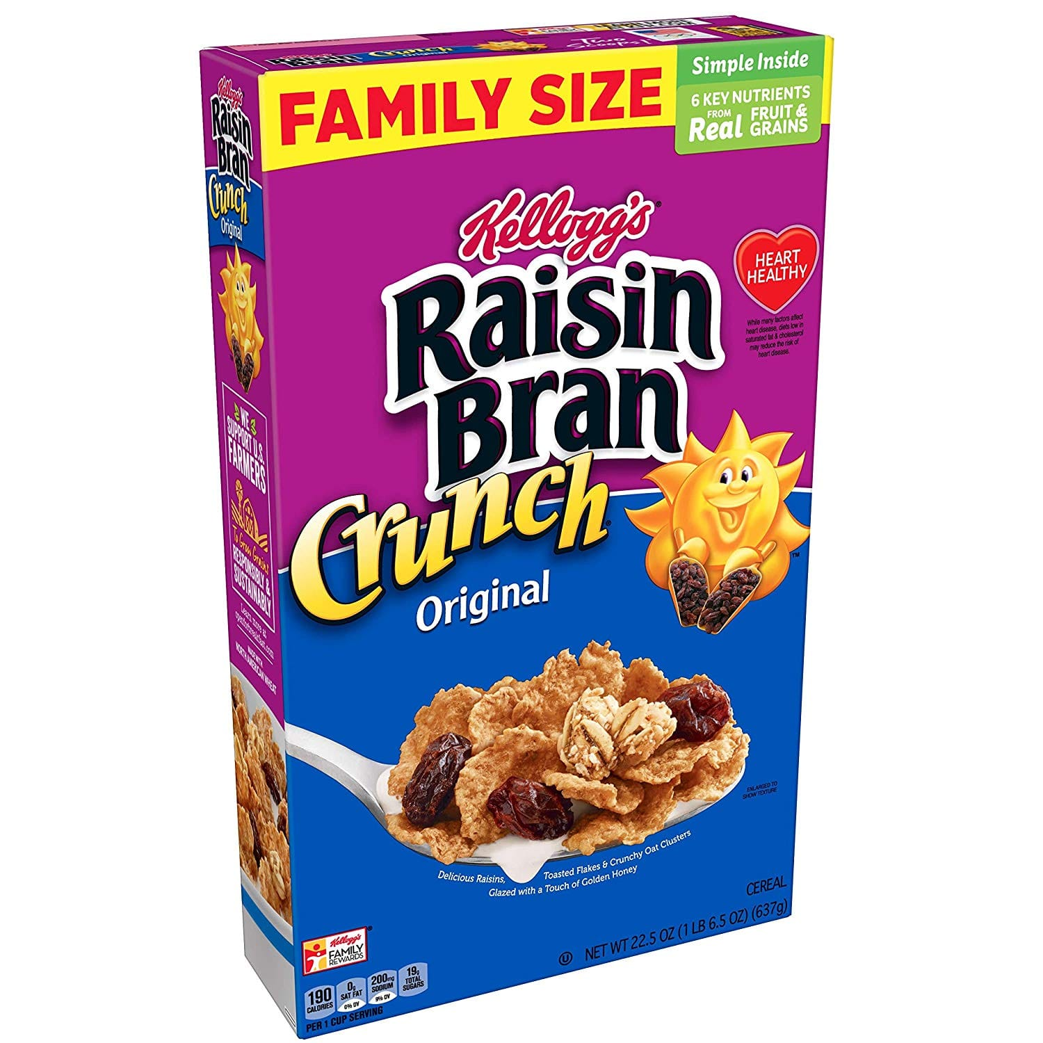 16-Count 22.5-oz Kellogg's Raisin Bran Crunch Breakfast Cereal $25 or less + free s/h