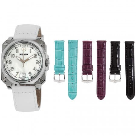Wenger Aerograph Cockpit Mother of Pearl Dial Ladies Watch $28 + free s/h