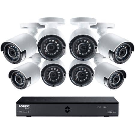 Lorex 16-Channel 2K Security DVR: w/ 8  4MP Color NightVision Bullet Cameras & 2TB HDD installed $400 + free s/h