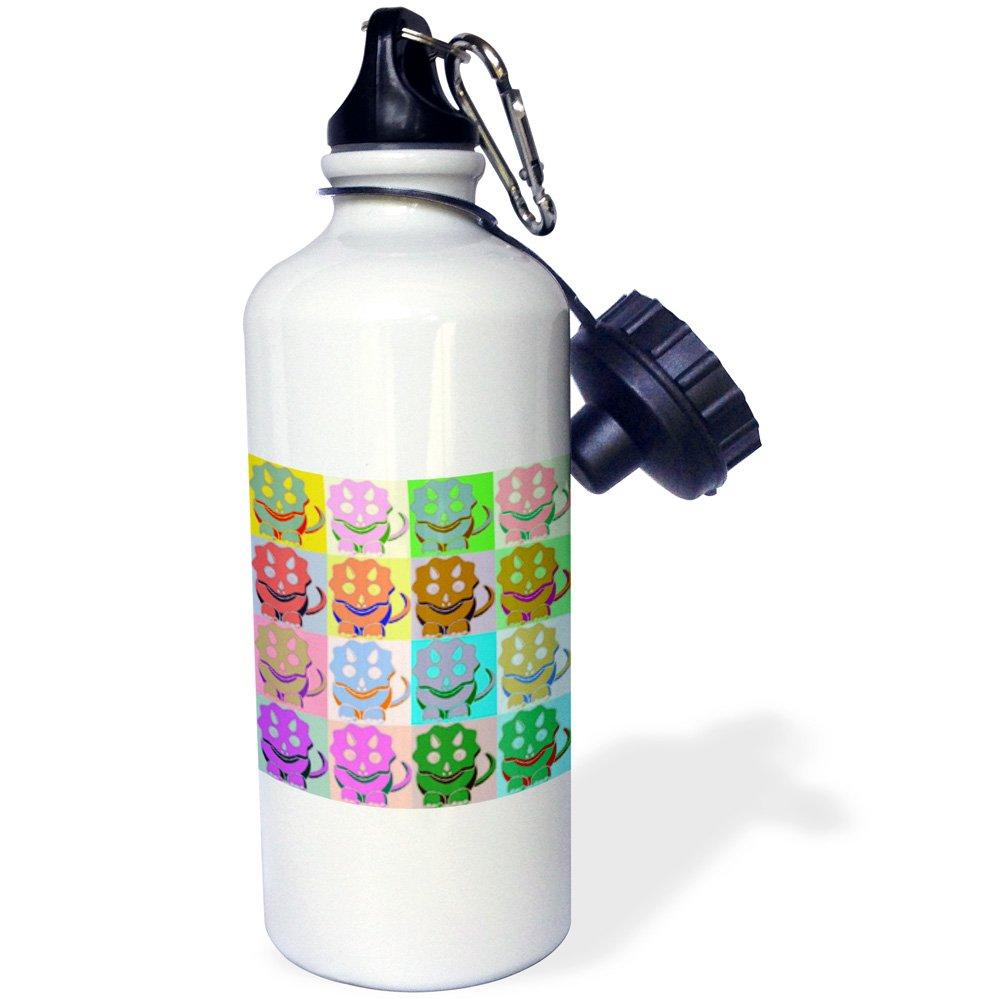 21oz Cartoon Triceratops or Union Jack Pop Art Sports Water Bottles $5 each @ Amazon