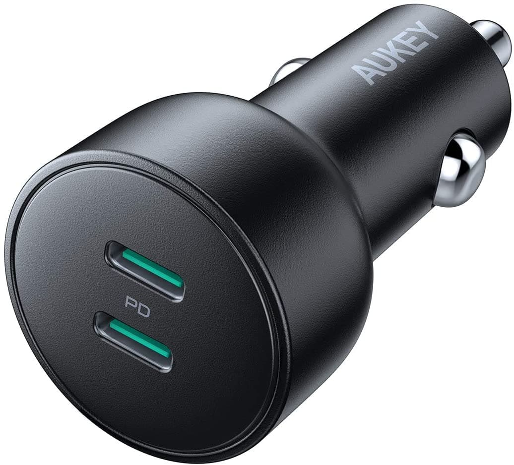 Aukey 36W Dual USB-C PD Car Charger $10 @ Amazon $9.91