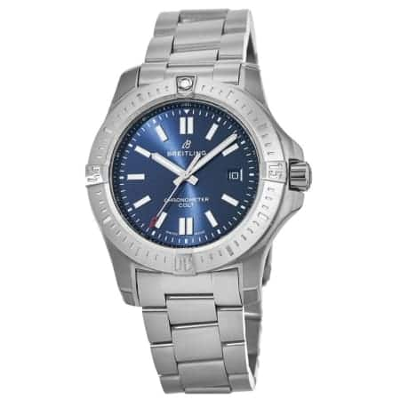 Breitling Colt Chronomat 44 Blue Dial Automatic Watch $1995 + free s/h