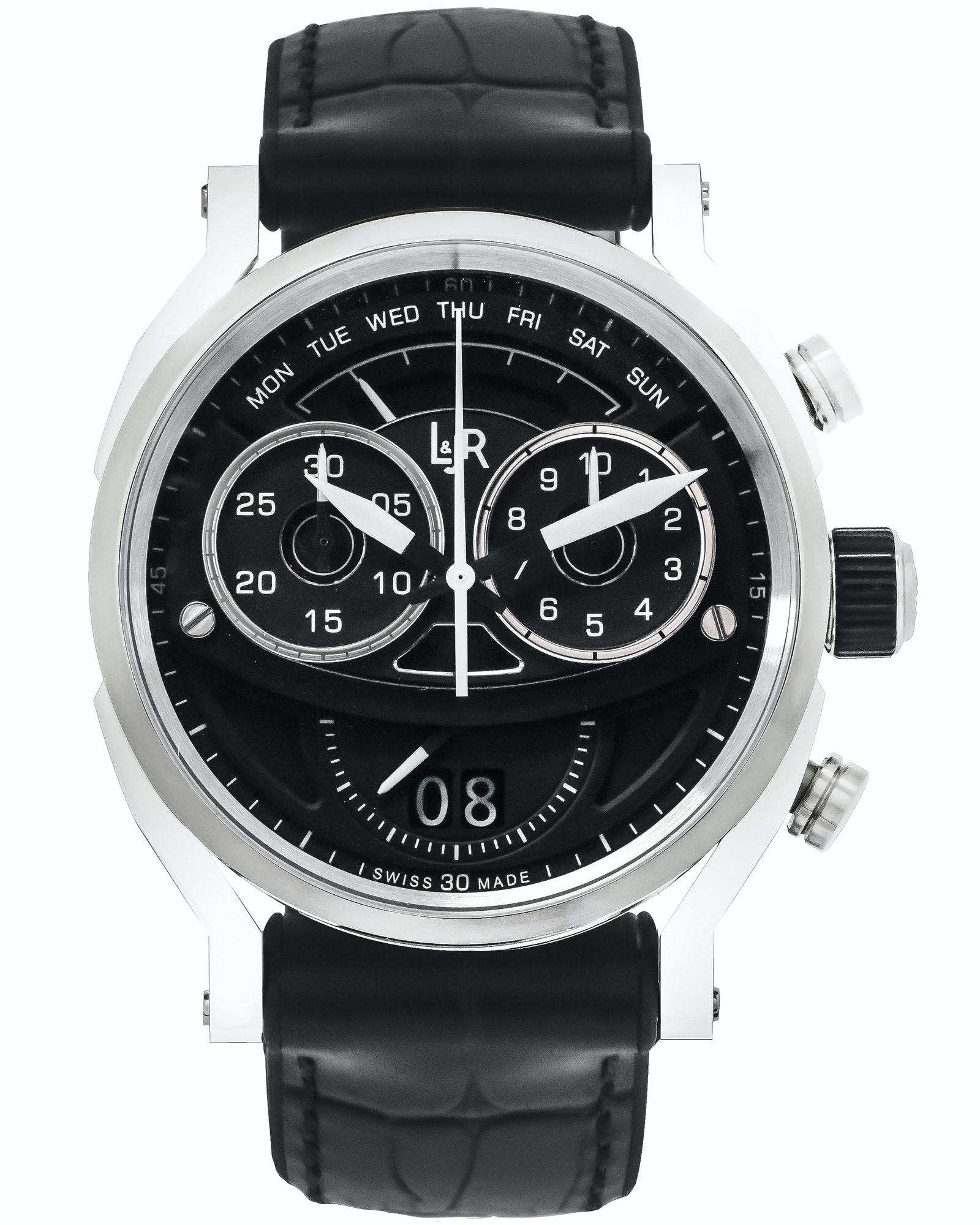 L&JR Big Date Retrograde Day Quartz Chronograph Watch $350 each + free s/h