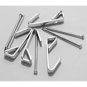 100-pack of Extra Heavy Duty (50lbs) Zinc Plated Steel Picture Hangers with Nails $8 on Amazon