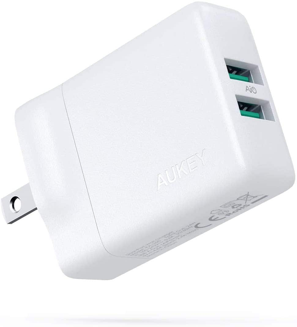 24w Aukey GaN USB Wall Charger $6.50