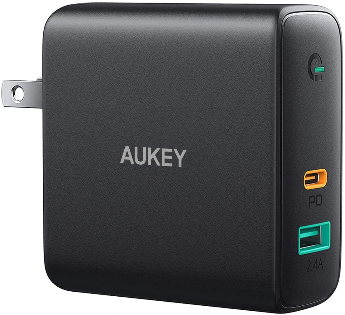 Aukey 60W PD 3.0 GaN Charger w/ USB-A Port $17 + free s/h