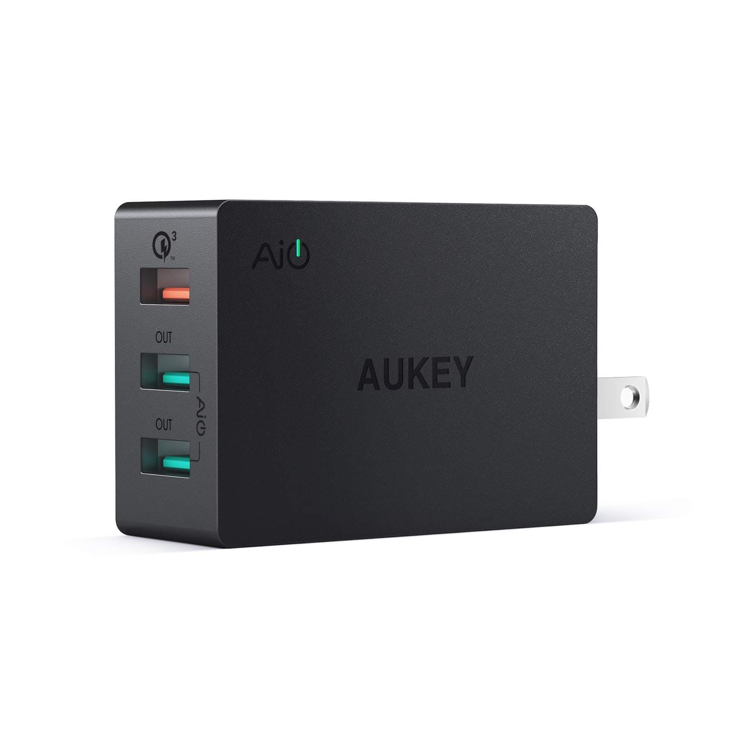 43.5w AUKEY 3 USB-A Wall Charger w/ 1 QC 3.0 $11.50