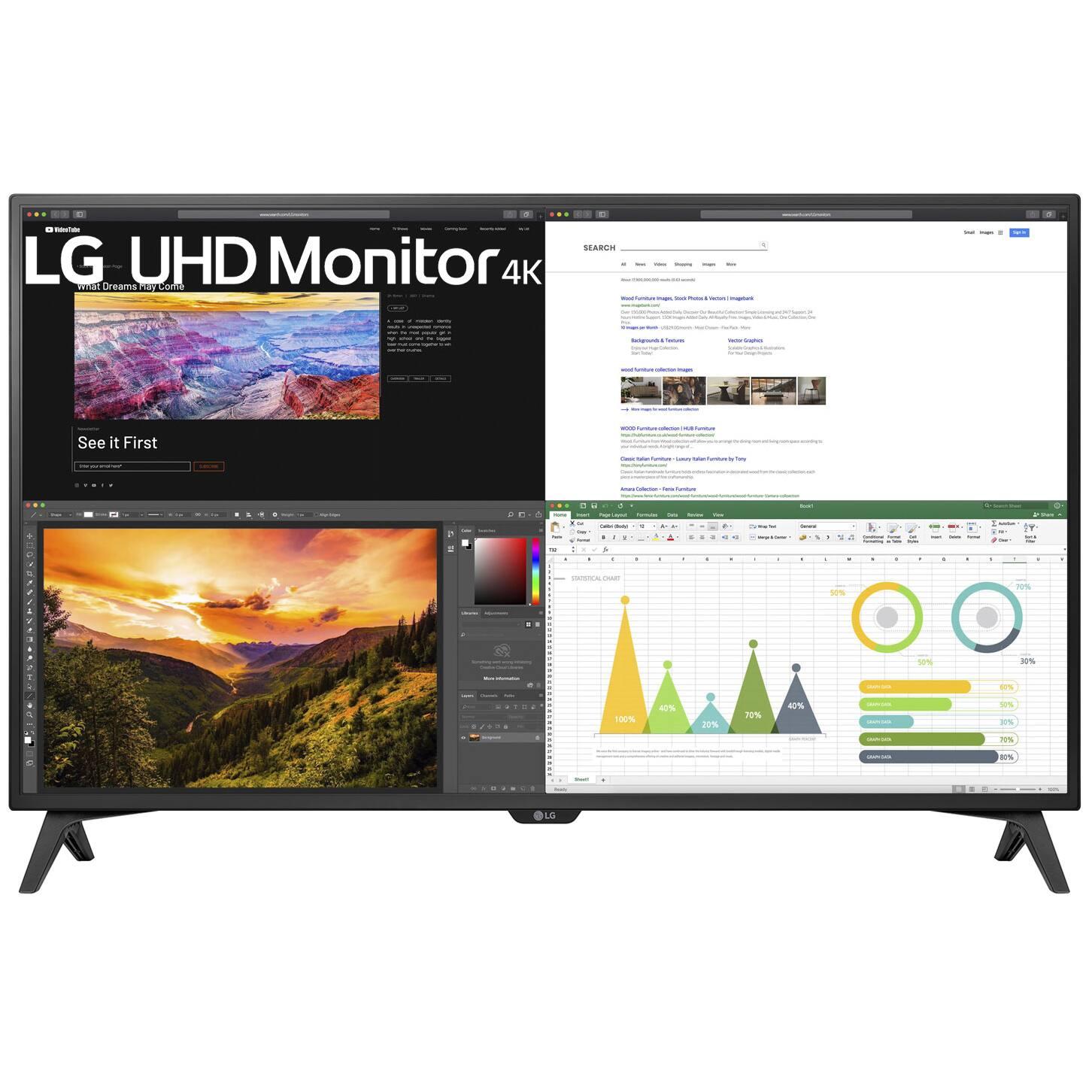 "43"" LG 43UN700T-B 4K UHD 3840x2160 IPS USB-C HDR 10 Monitor $499 + Free Shipping"