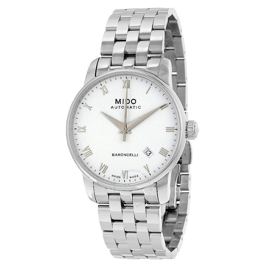 MIDO Baroncelli II Automatic Silver Dial Men's Watch on Bracelet $299 + free s/h