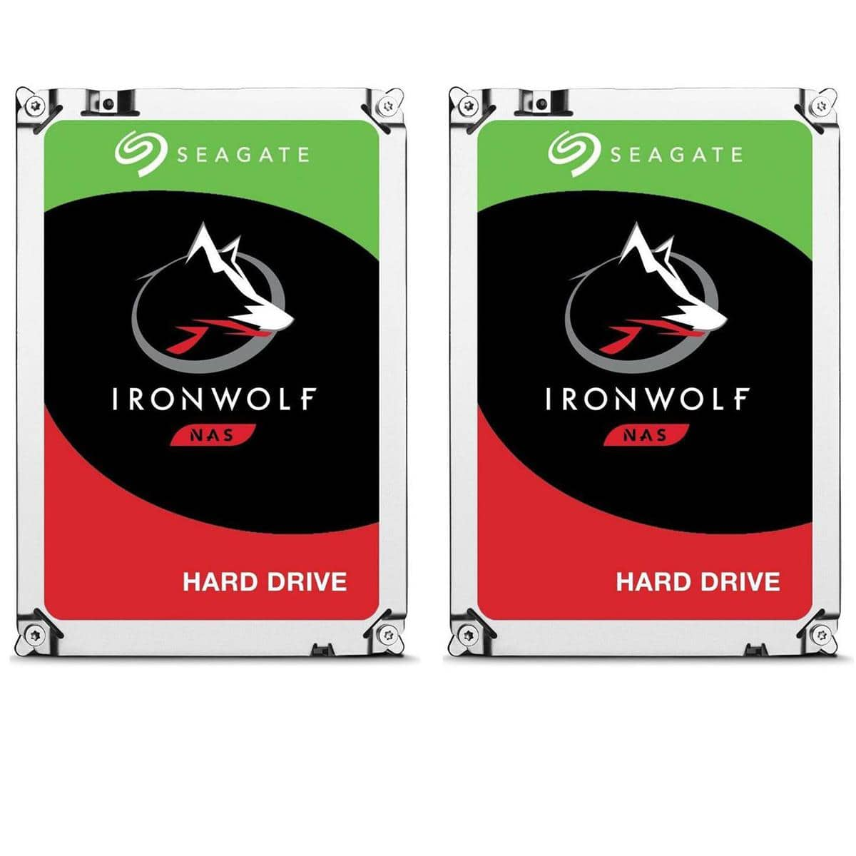 (2-Pack) 8TB Seagate IronWolf SATA 6GB/s 7200RPM NAS Drives $370 (or less w/ SD Cashback) + free s/h