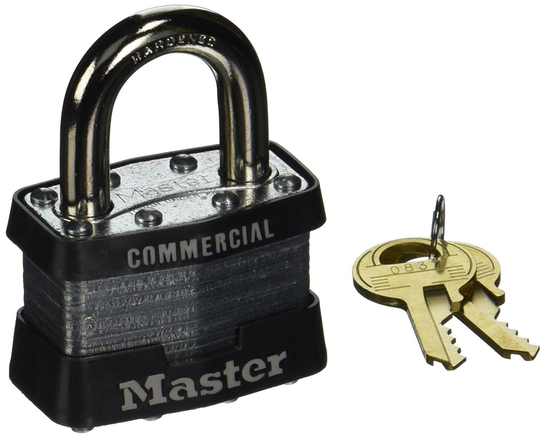 4-Pack Master Lock 470-1DCOM No. 1 Laminated Steel Pin Tumbler Padlocks Only $10.42