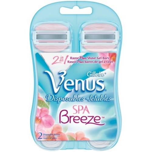 Gillette Venus Women's Comfortglide 3 Blade Disposable Razor, 2 Count  $2.92 + FS
