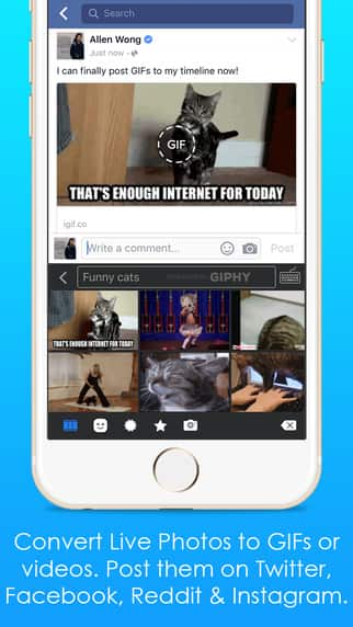 iGIF - Swipe, Live Photos & GIF Keyboard iOS app Free for Today only (was $2.99) 5-star rated iPhone/iPad app
