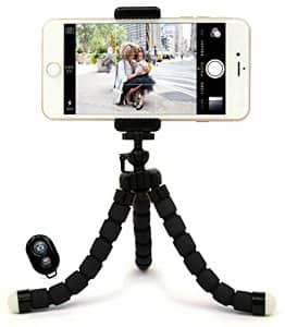$1.99 + FS Bastex Universal Compact Flexible Octopus Style Black Tripod Stand Holder/Mount with Adapter for Smartphone / Digital Camera / GoPro Hero All Versions - Includes Remote