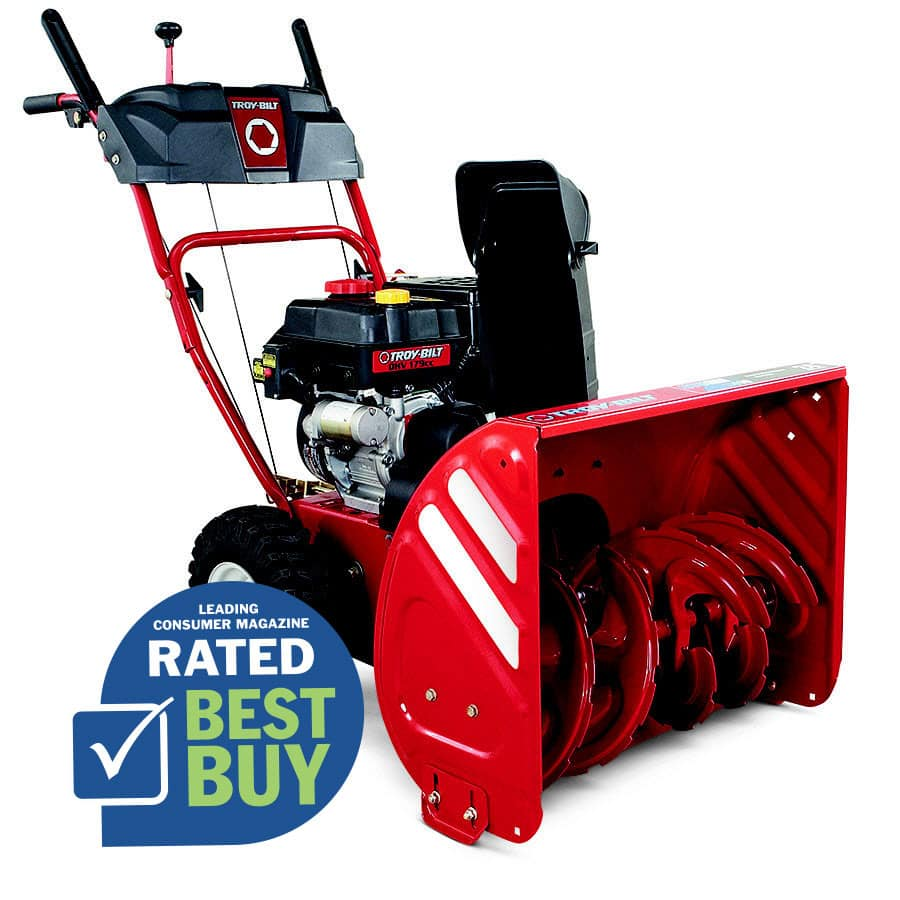Troy Bilt Storm 2410 179 Cc 24 In Two Stage Electric Start Gas Snow Er 420 Or Less Lowe S Ymmv