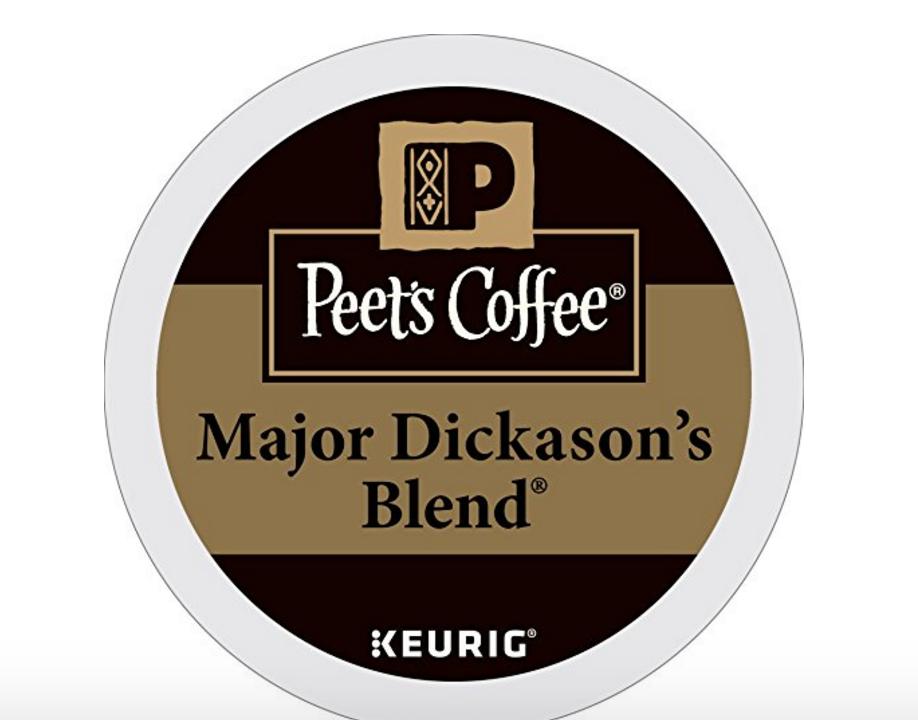 20% off Peet's Coffee Major Dickason's Blend Dark Roast 32ct K-Cup Packs.
