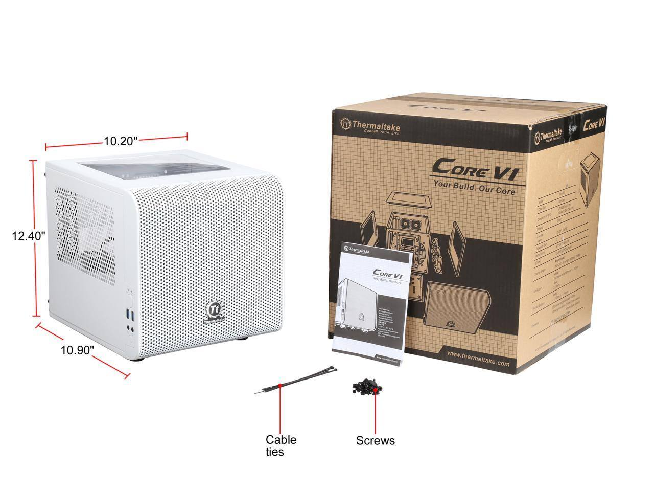 Thermaltake Core V1 Snow Edition Extreme Mini ITX Cube Chassis - $39.99 AR/FS