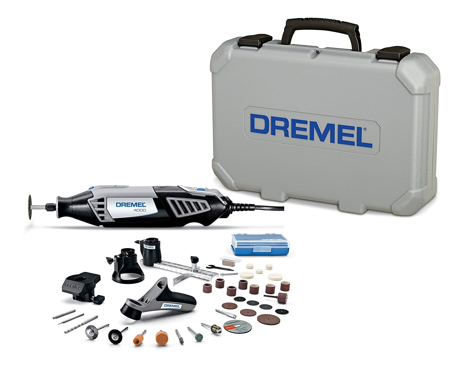 Dremel 4000-4/34 High Performance Rotary Tool Kit with Variable Speed Rotary Tool, 4 Attachments and 34 Accessories - before sales tax - free shipping $59