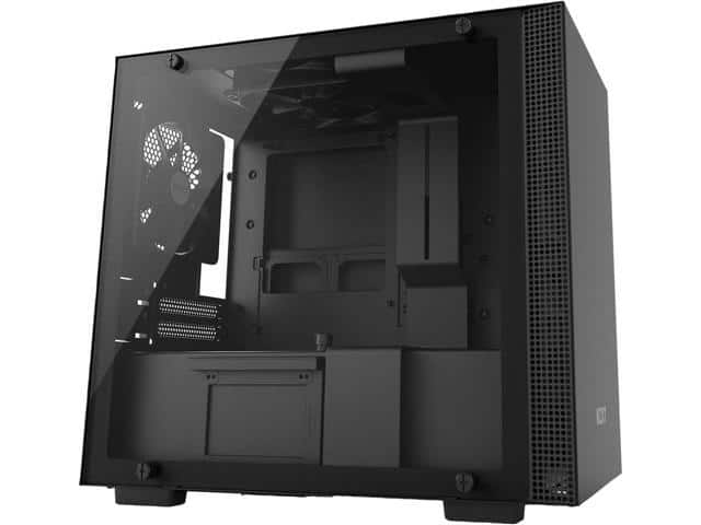 NZXT H200 - Mini-ITX PC Gaming Case - Tempered Glass Panel - All-Steel Construction - Black - $64.99 FS