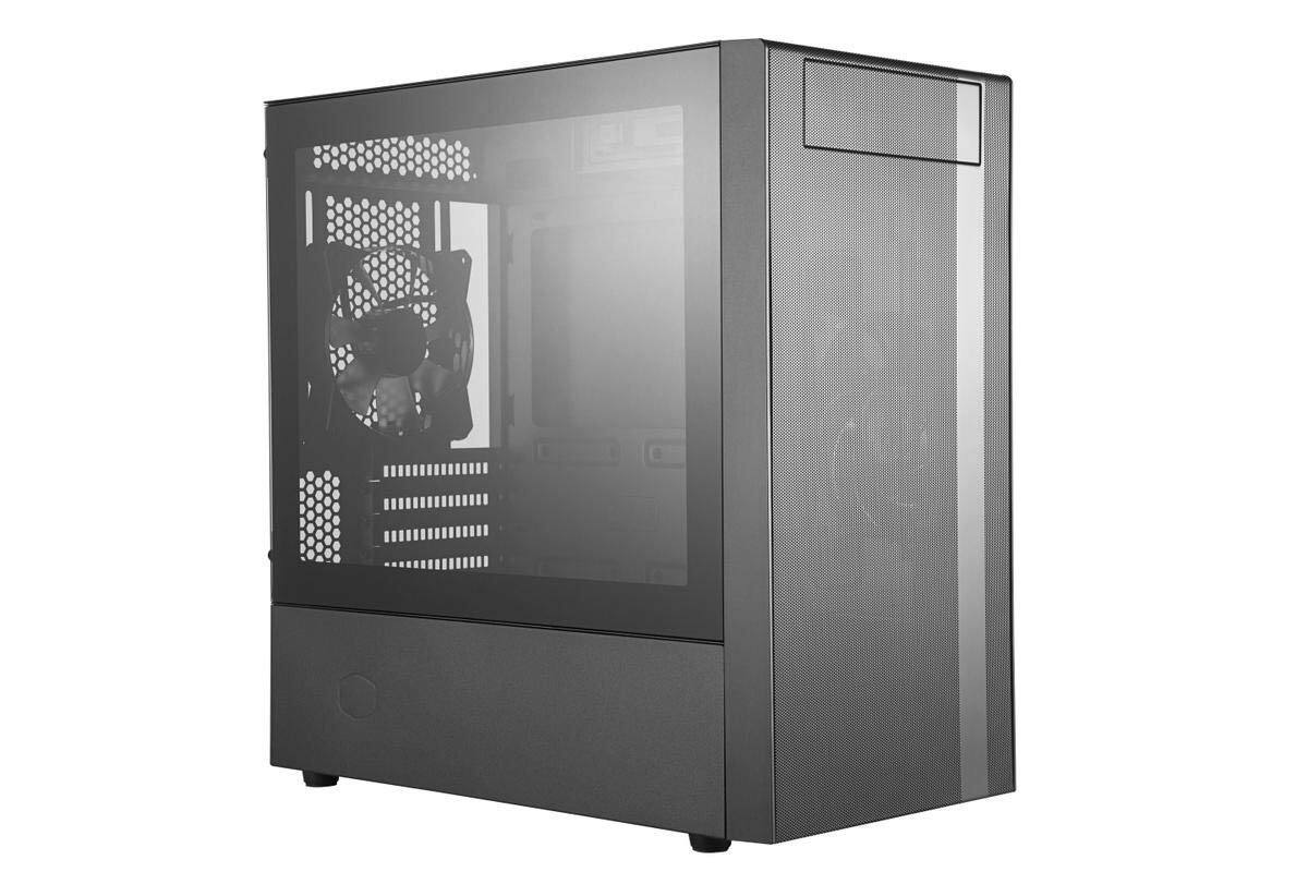 Cooler Master MasterBox NR400 MATX Mini-Tower with Mesh Ventilation, Minimal Design, and Tempered Glass Side Panel Case [MATX] - $51.99 FS