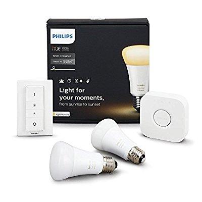 Philips Hue White Ambiance Smart Bulb Starter Kit $69.99