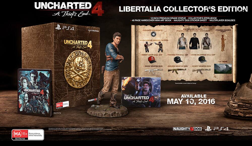 UNCHARTED 4: A Thief's End Libertalia Collector's Edition $39.99