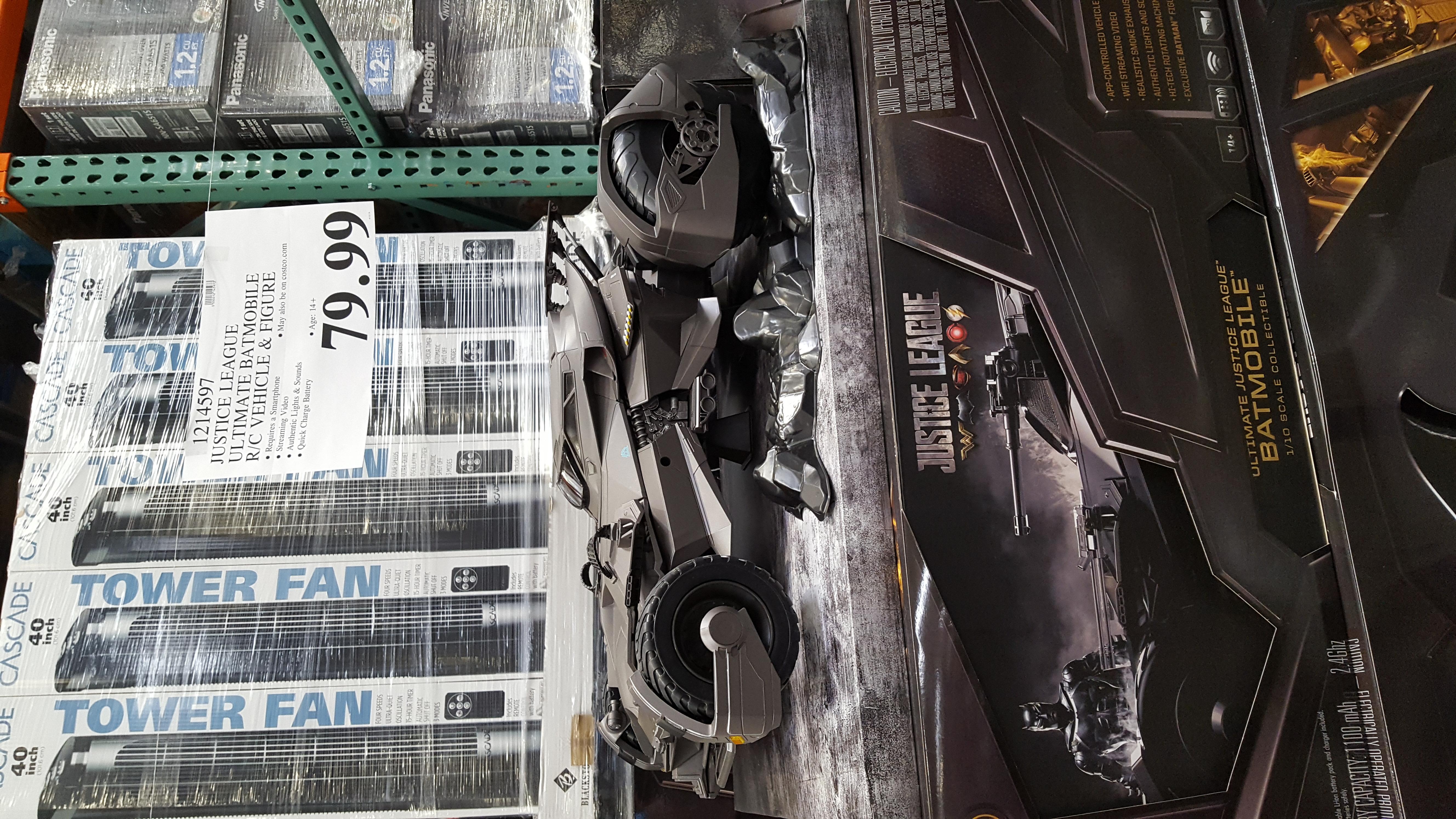 Justice League Ultimate Batmobile R C Vehicle Amp Figure Costco