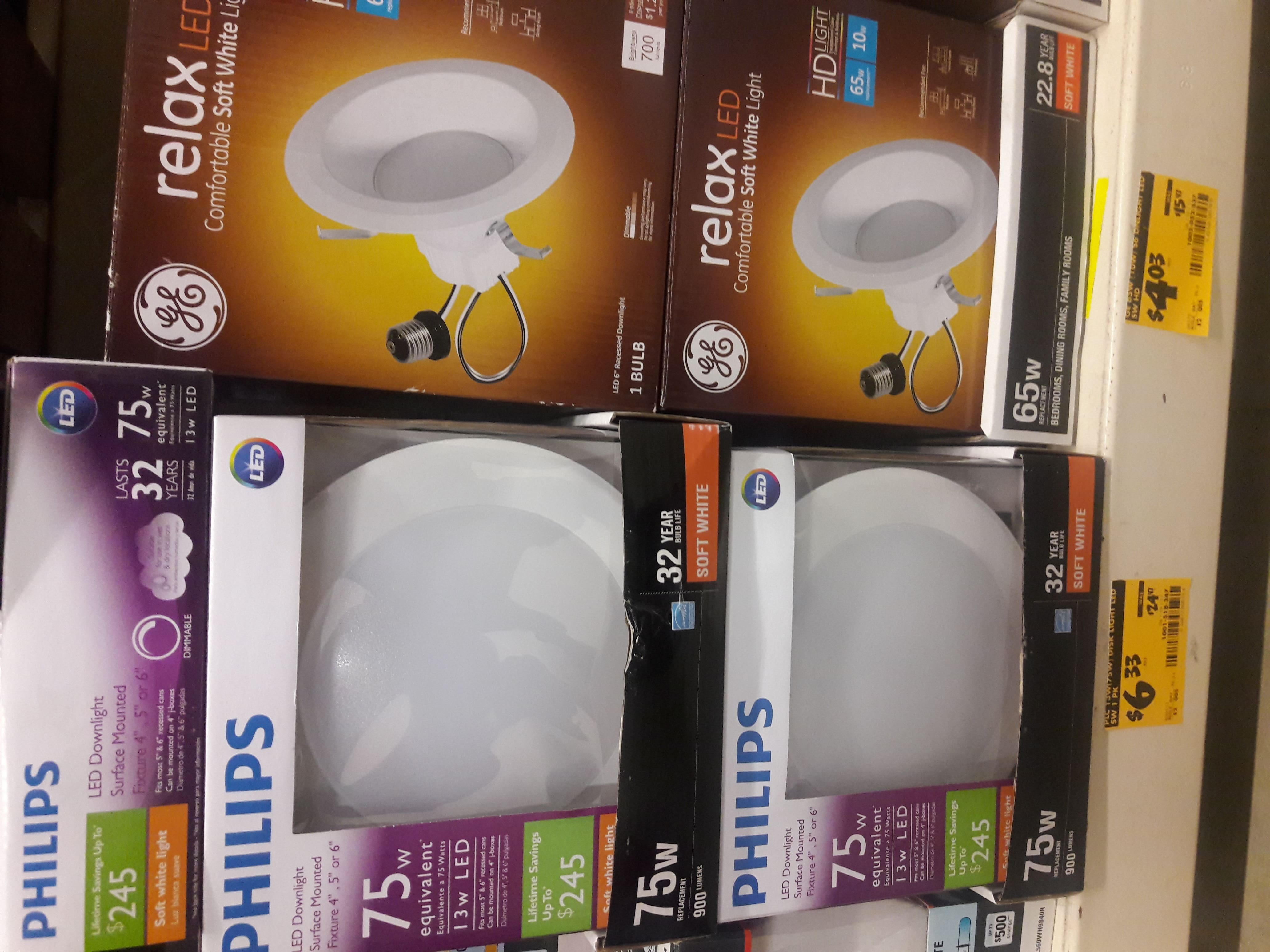 Philips 75W Equivalent Soft White BR30 LED Energy Star Downlight Surface Mounted Fixture $6.33 @ Home Depot