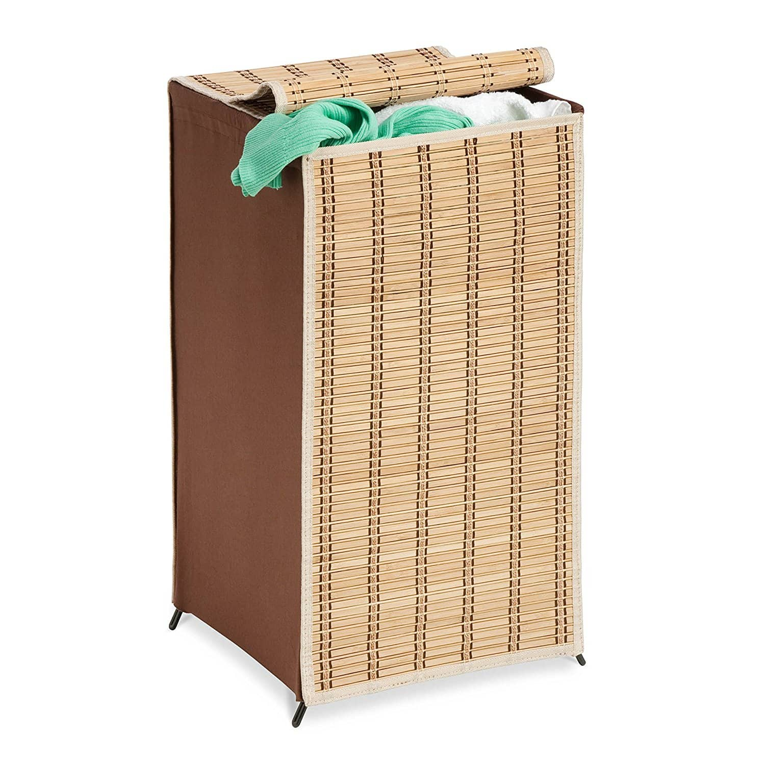 Honey-Can-Do Tall Bamboo Wicker Weave Laundry Hamper $9.92 at Amazon