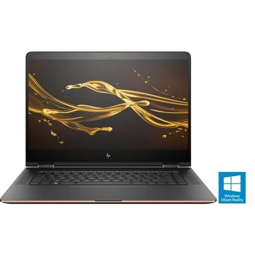 """HP - Spectre x360 2-in-1 15.6"""" 4K Ultra HD Touch-Screen Laptop - Intel Core i7 - 16GB Memory - 512GB Solid State Drive - Dark Ash Silver for $1,099.99"""