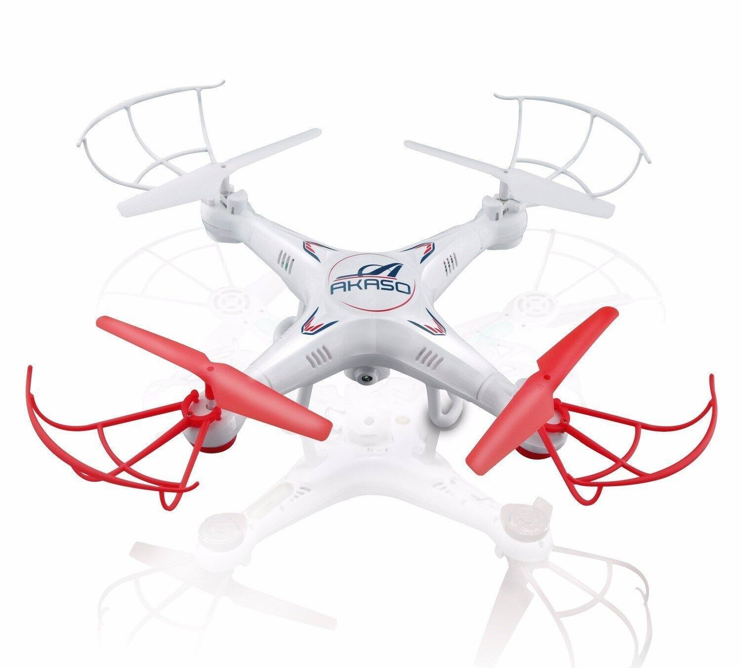 Akaso X5C 4-Channel 2.4-GHz 6-Axis Gyro Headless 360-Degree 3D Rolling Mode RC Drone Quadcopter with HD Camera for $21 @ Amazon