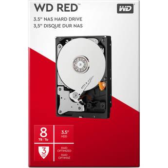 """WD 8TB Red 5400 rpm SATA III 3.5"""" Internal NAS HDD Retail Kit - $149.99"""