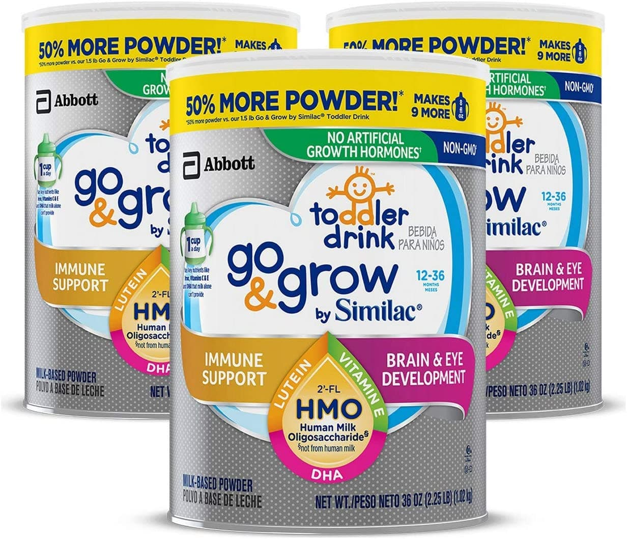 Amazon.com: Go & Grow by Similac Toddler Drink, 3 Cans $38.45